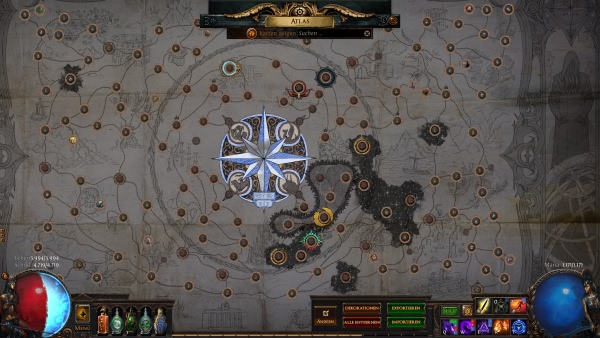 Icons im Atlas von Path of Exile